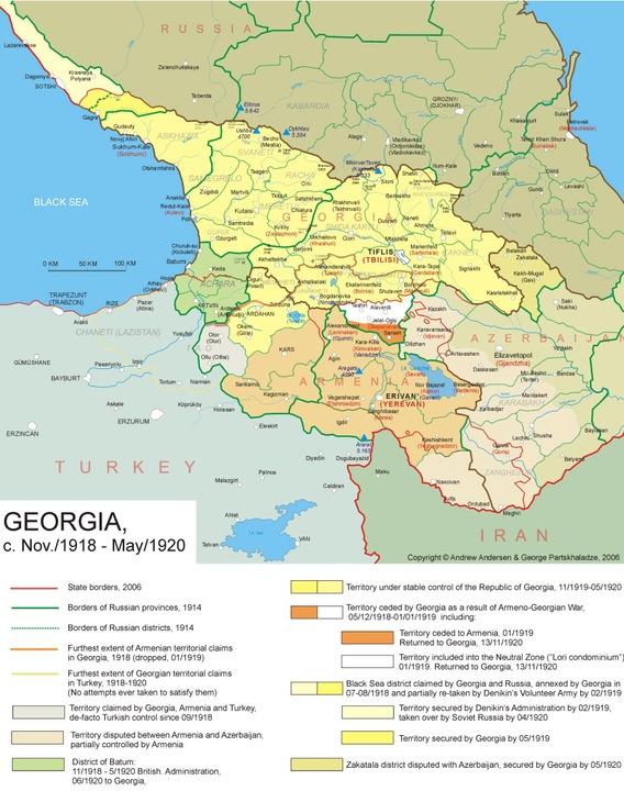 Maps - Georgia map 1921